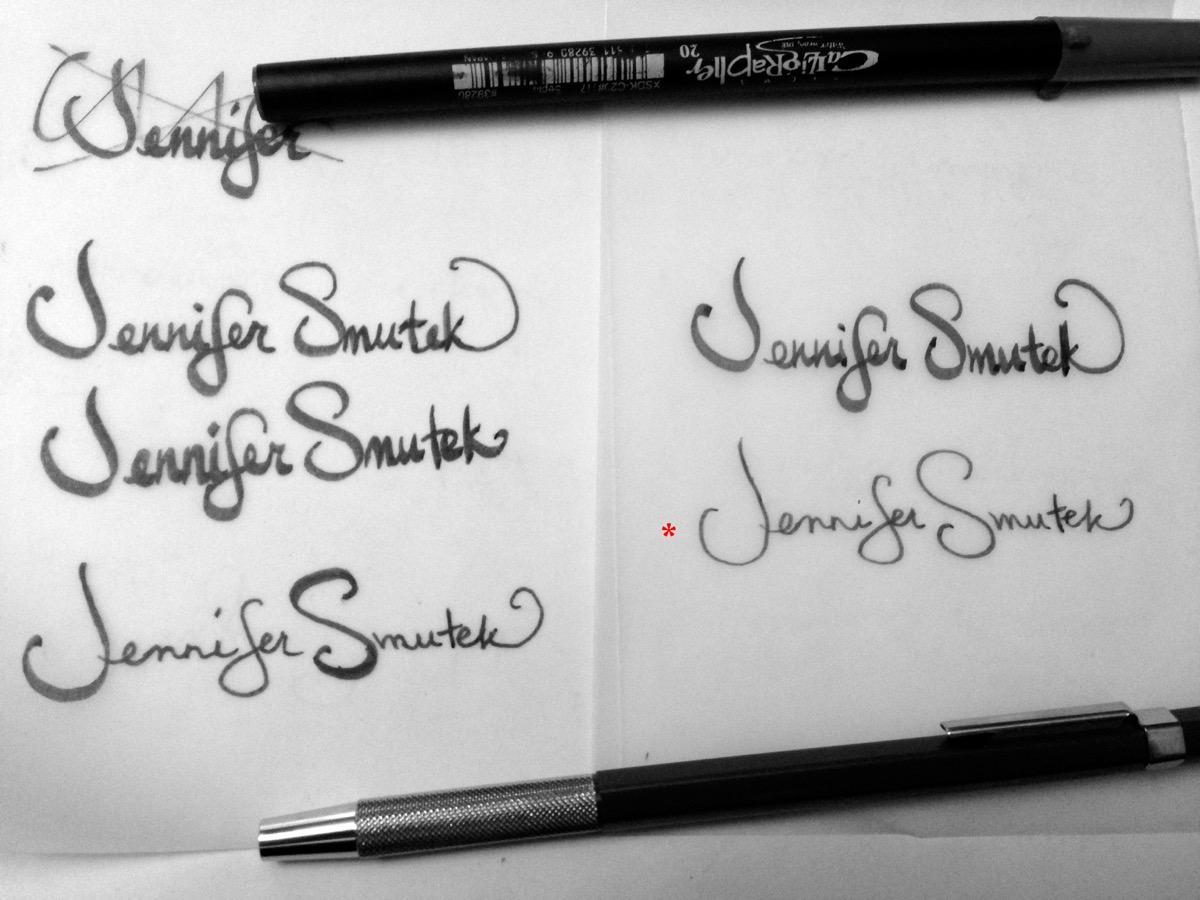 Jennifer Smutek Photography | New Hand-Lettered Logo by Nikita Prokhorov!