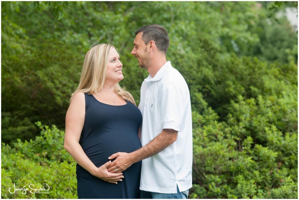 Sherwood Gardens Maternity Session | Ciera & John