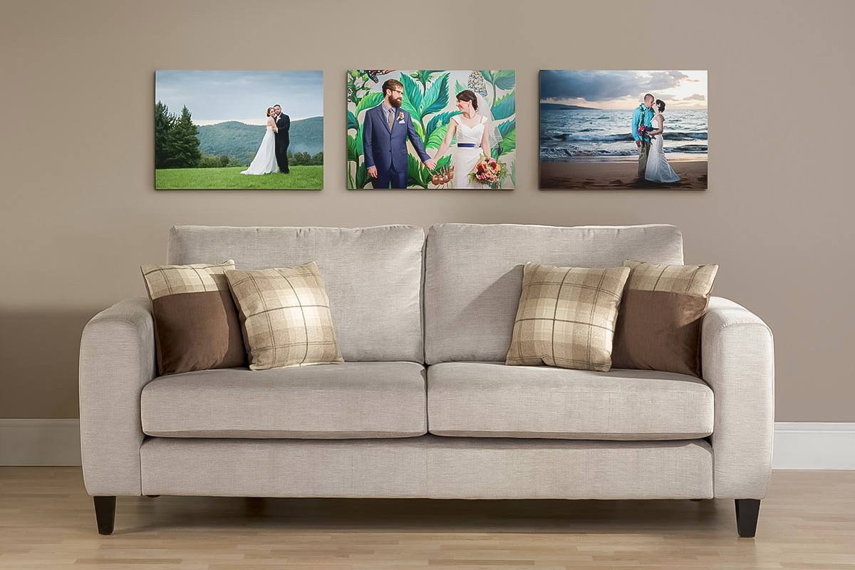 3 canvas gallery wraps form a beautiful wall collection
