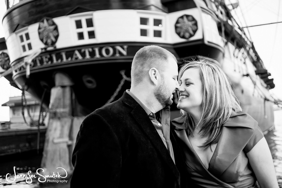 Inner harbor engagement session