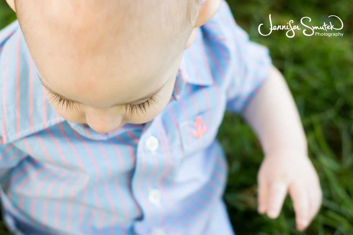 a sweet baby's eye lashes
