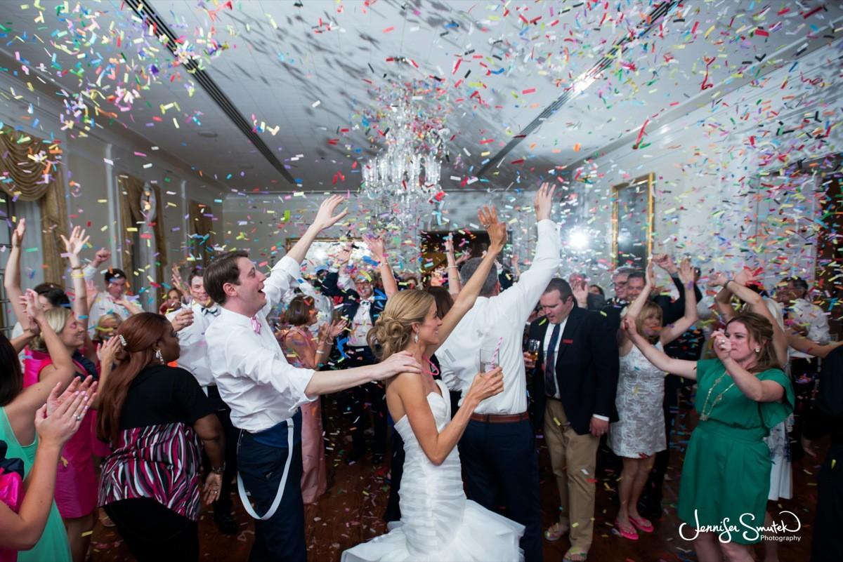 confetti drop at your wedding