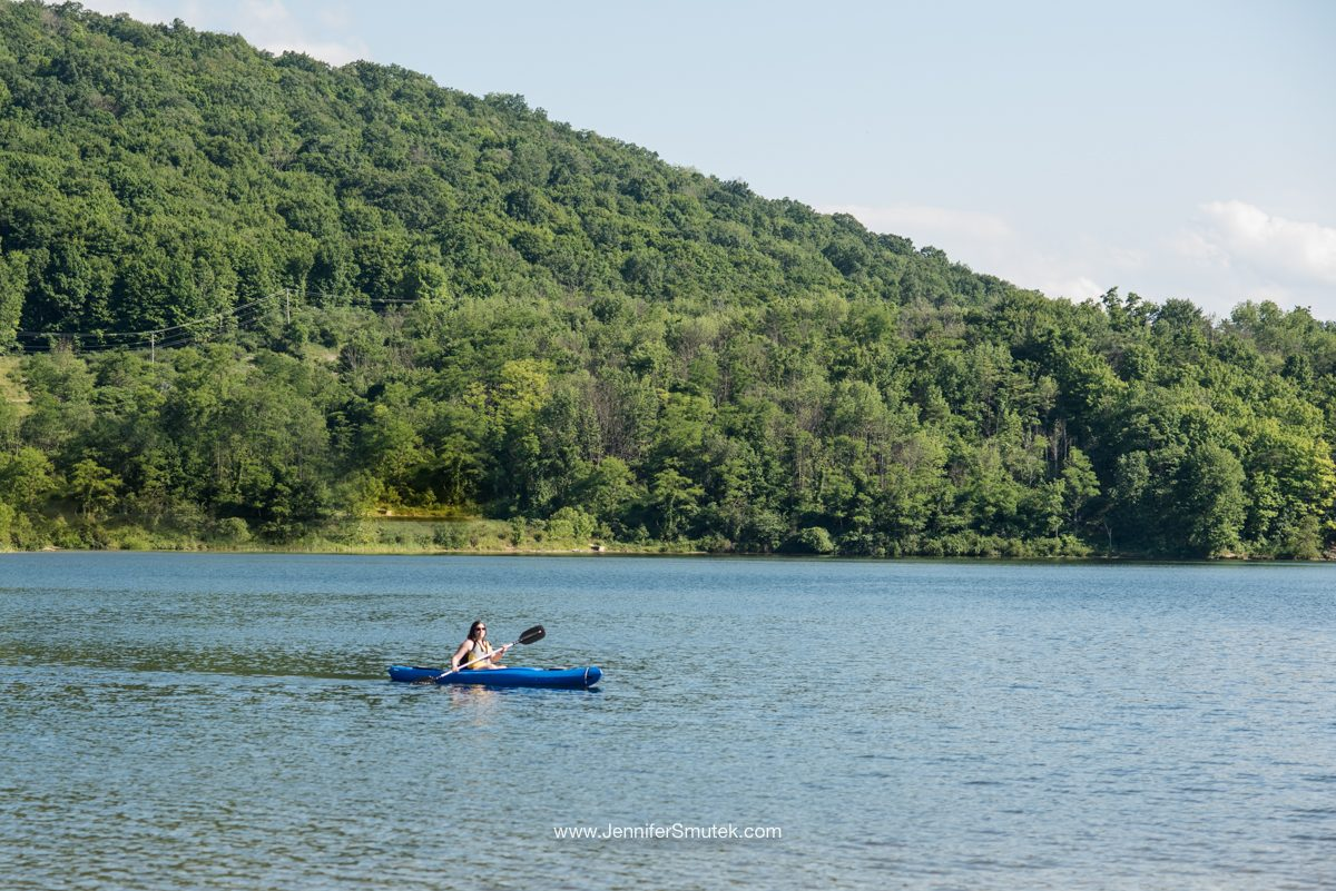 kayaking on lake habeeb