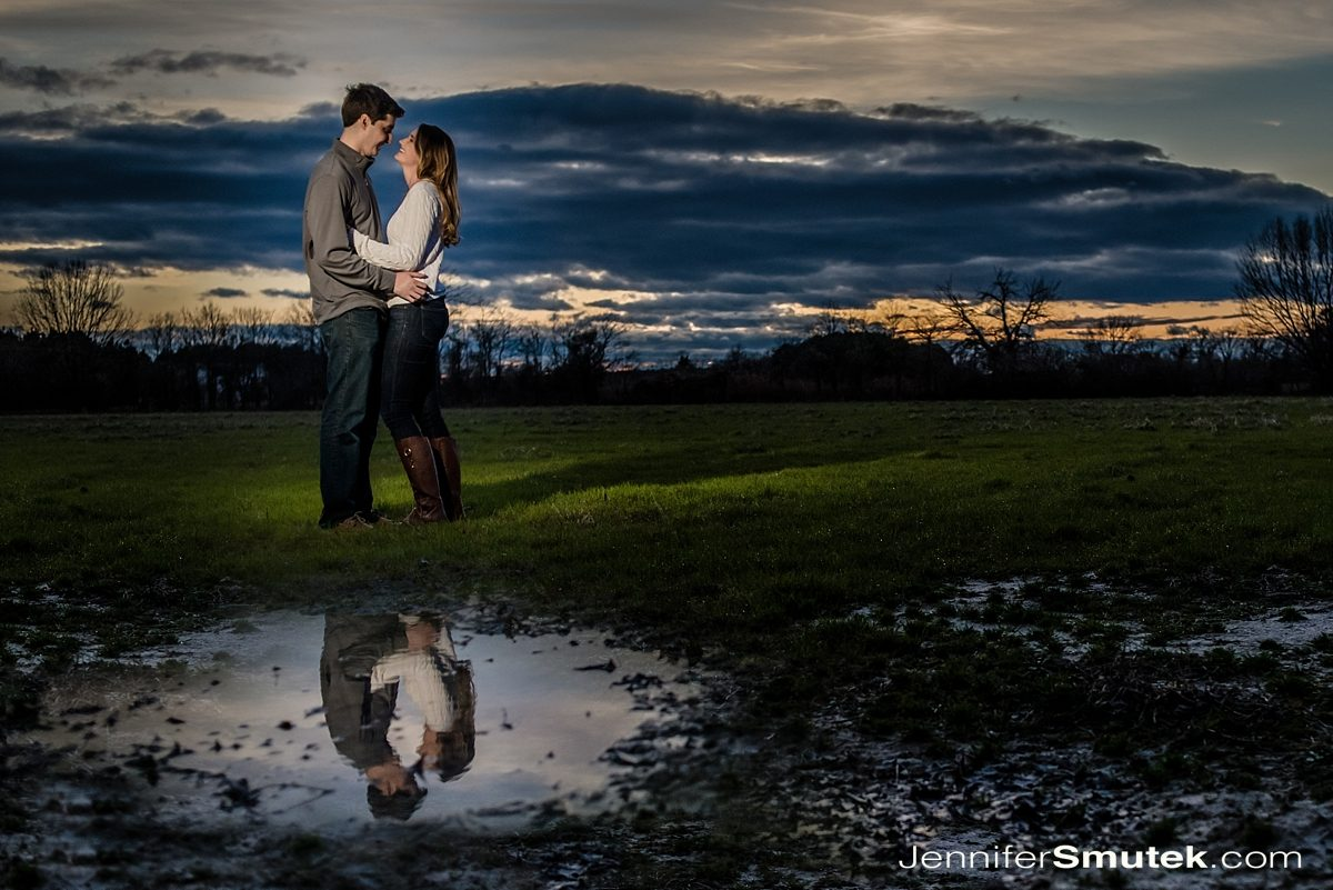 sunset engagement session in st. michaels maryland