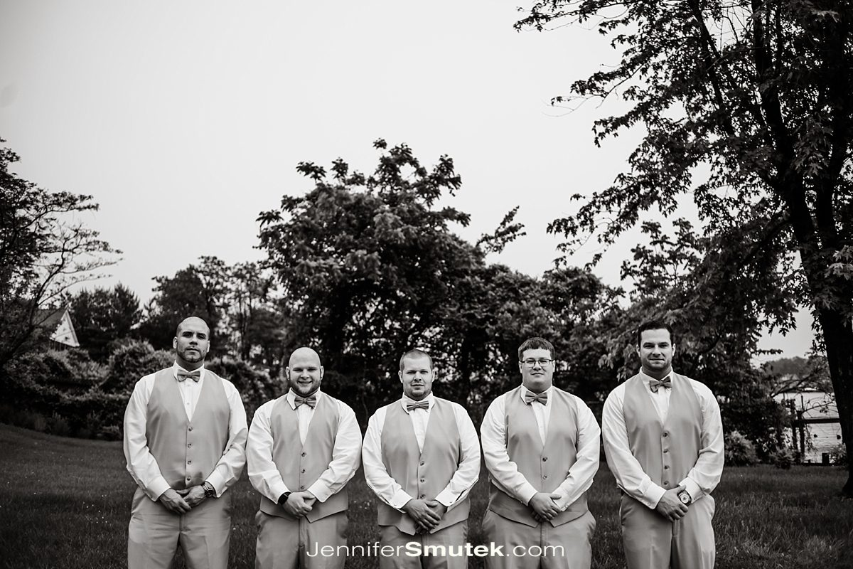 groomsmen photos at the bayfront club in edgemere