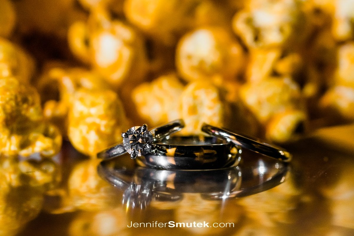 rings in front of popcorn