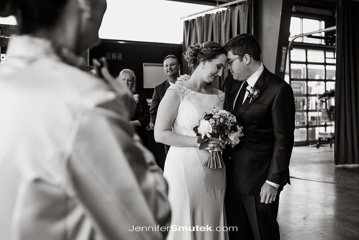 couple immediately following wedding