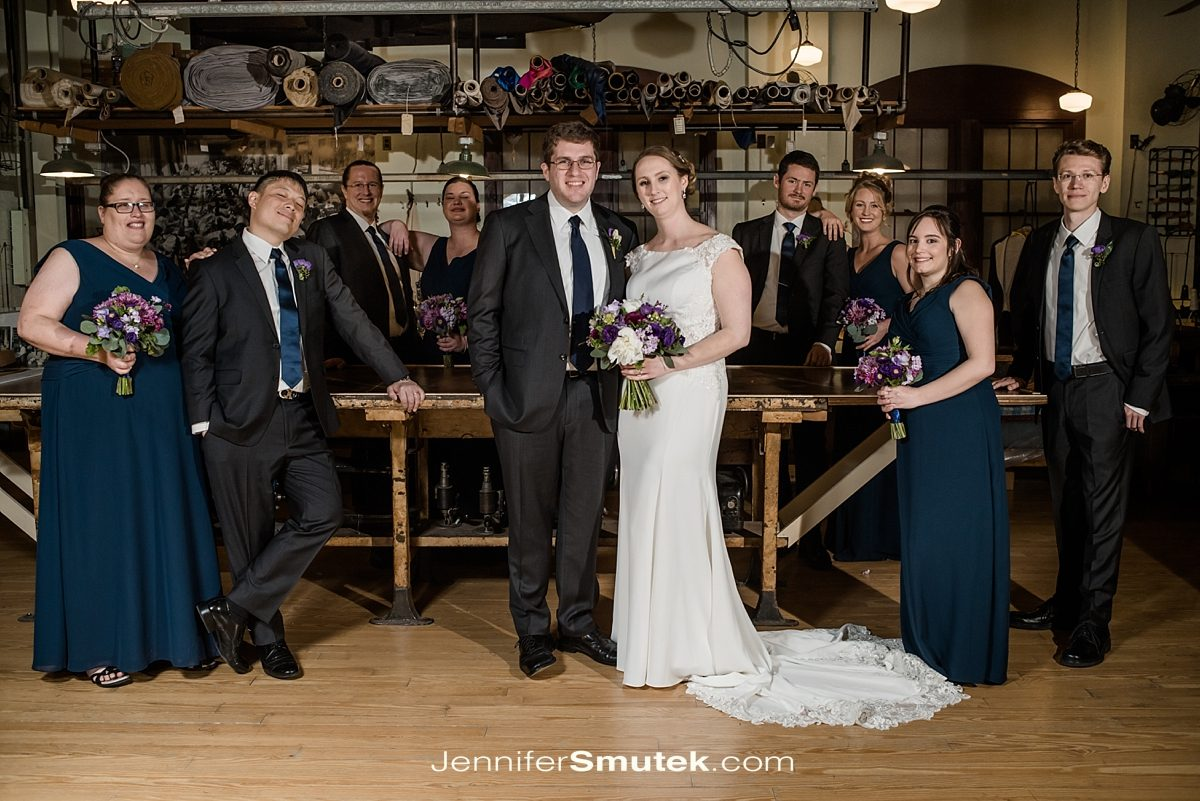 bridal party photos baltimore museum of industry