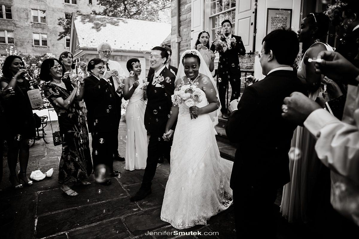 bubble exit dc wedding