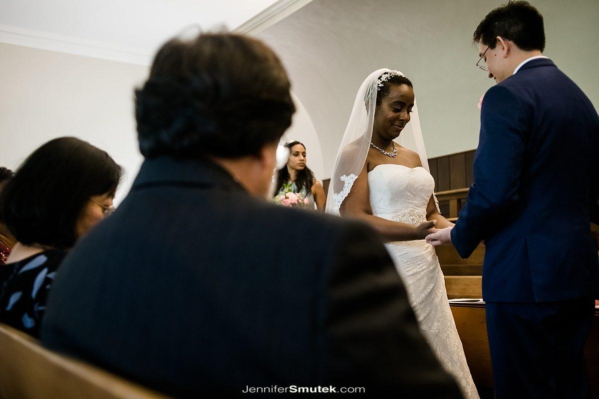 couple saying vows dc wedding