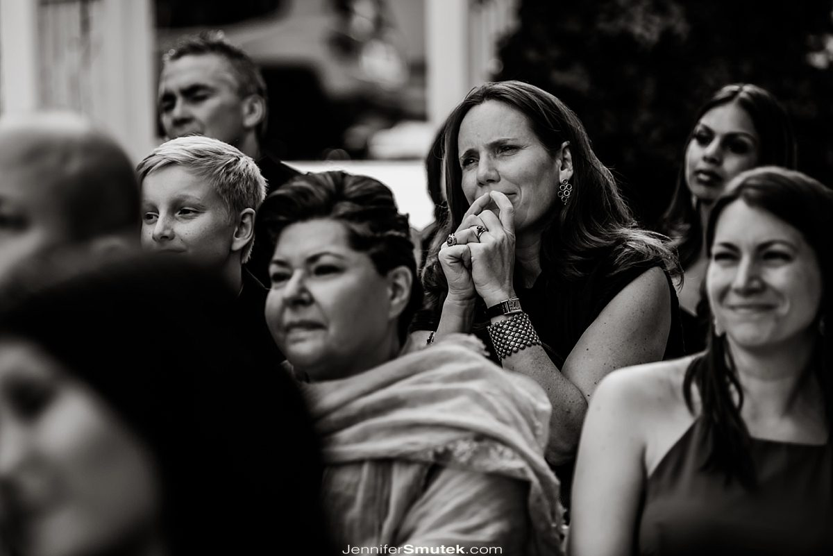 guest intently watching ceremony