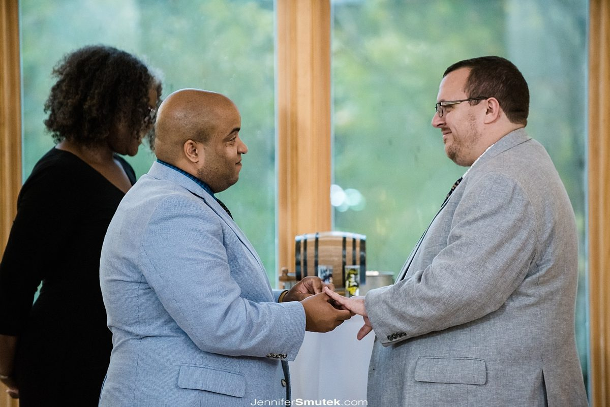same sex indoor wedding at the howard county conservancy