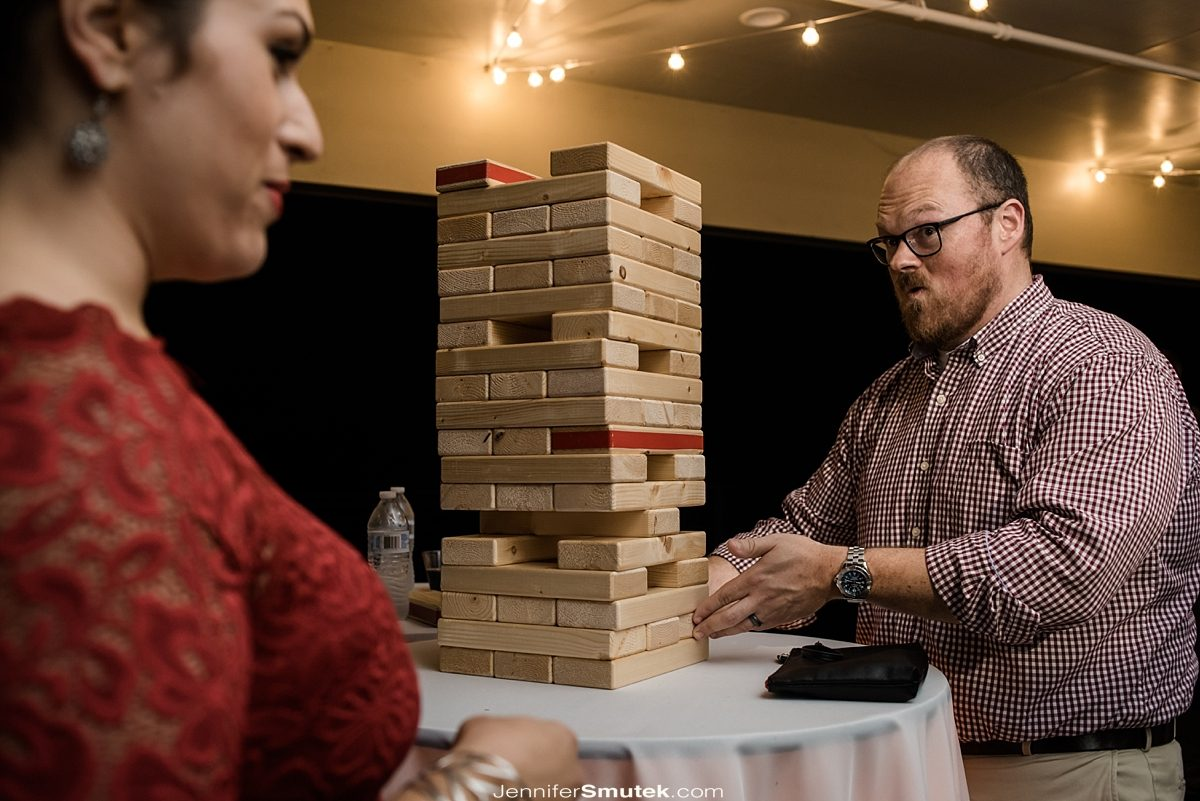 giant Jenga at your wedding
