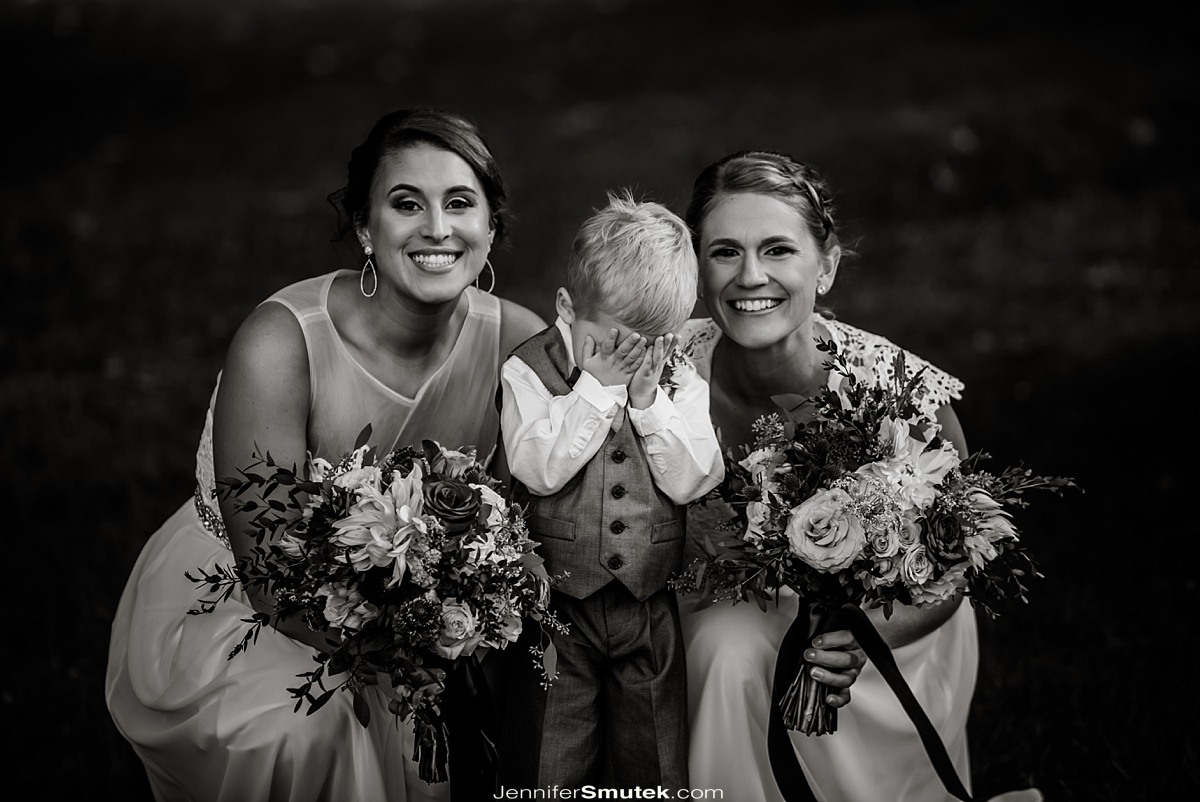two brides and ring bearer