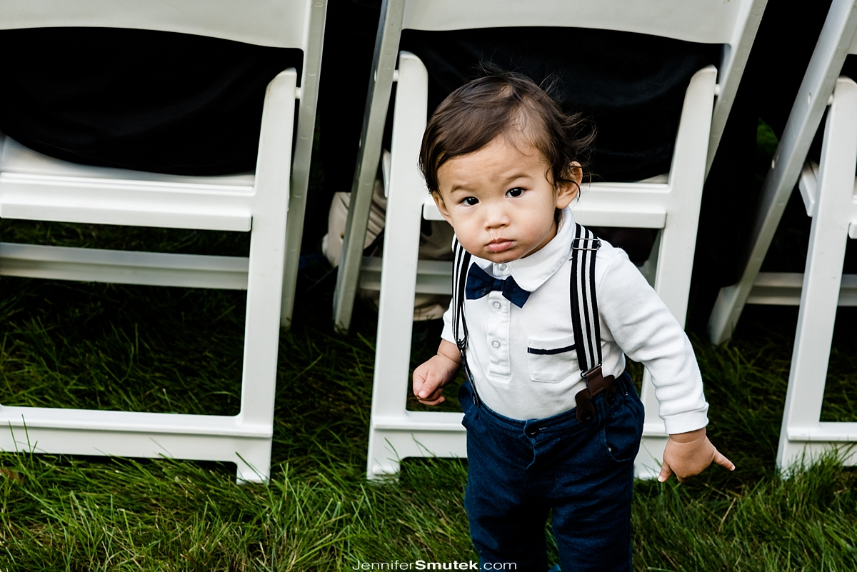 small boy at wedding