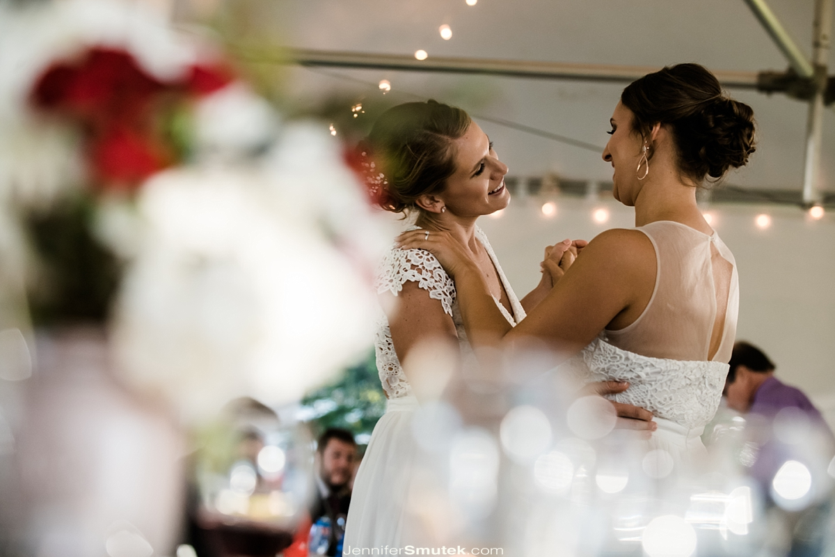 two brides first dance