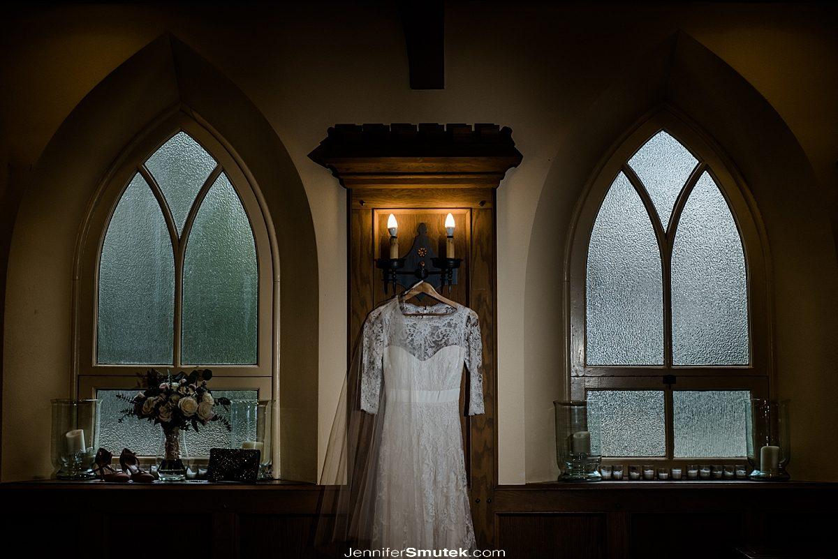dressing hanging all saints church wedding maryland