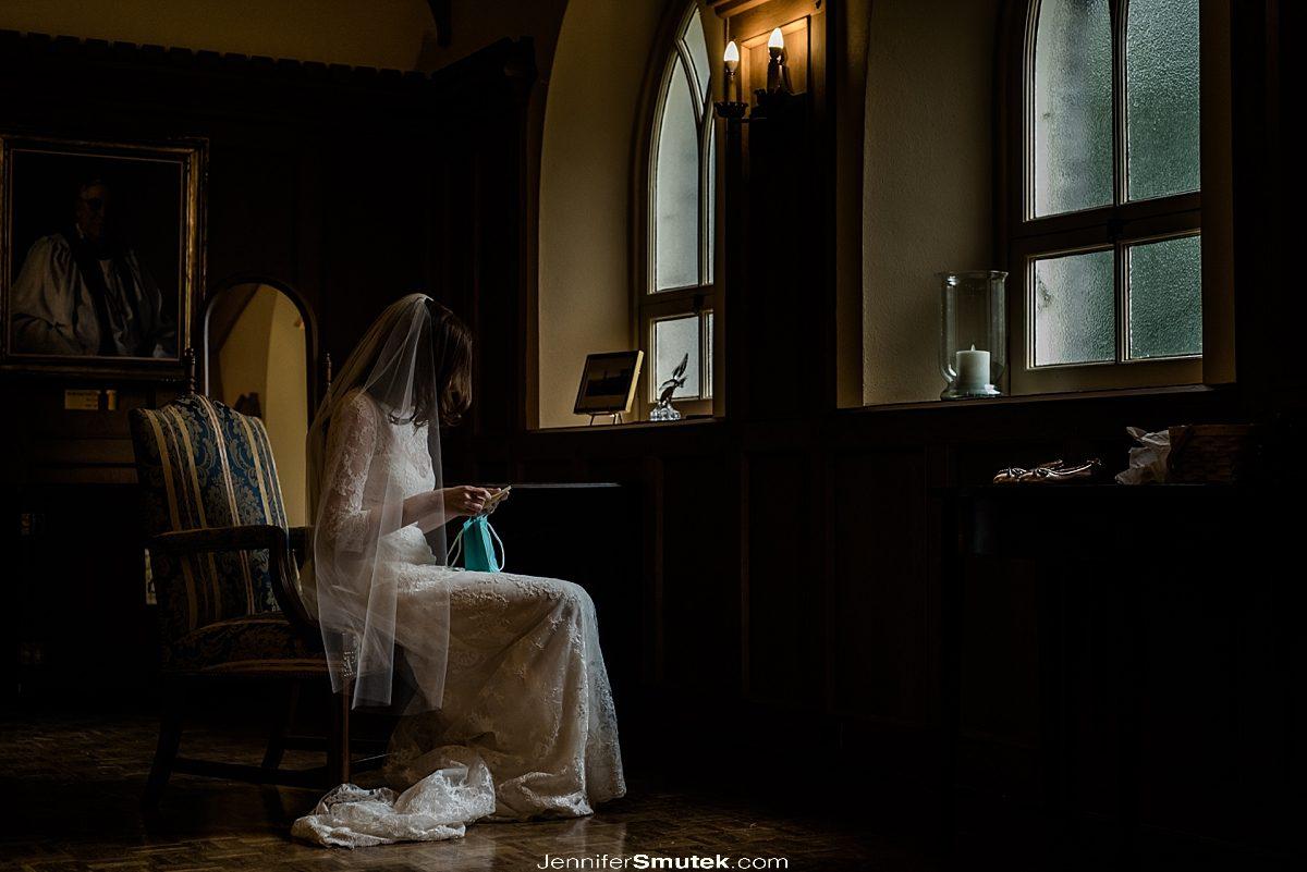 bride getting ready All Saints Church Chevy Chase Wedding