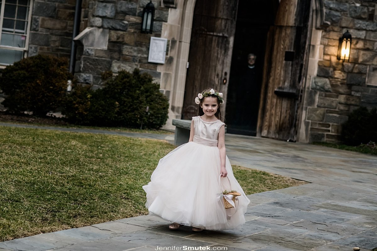 flower girl at All Saints Church Chevy Chase Wedding