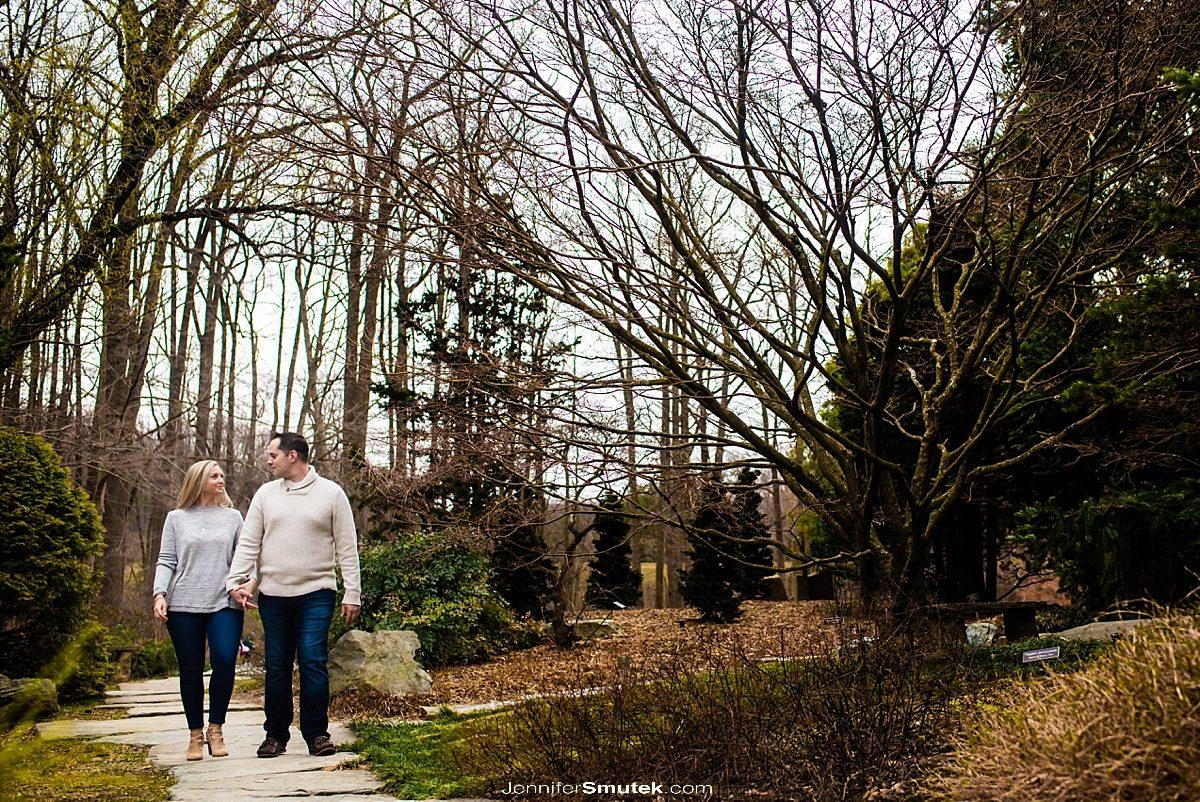 Brookside Gardens spring engagement session