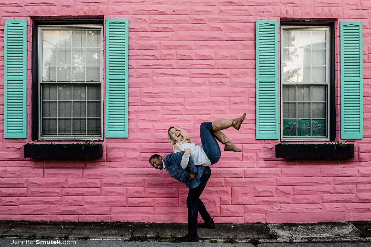 fun engagement photos in baltimore