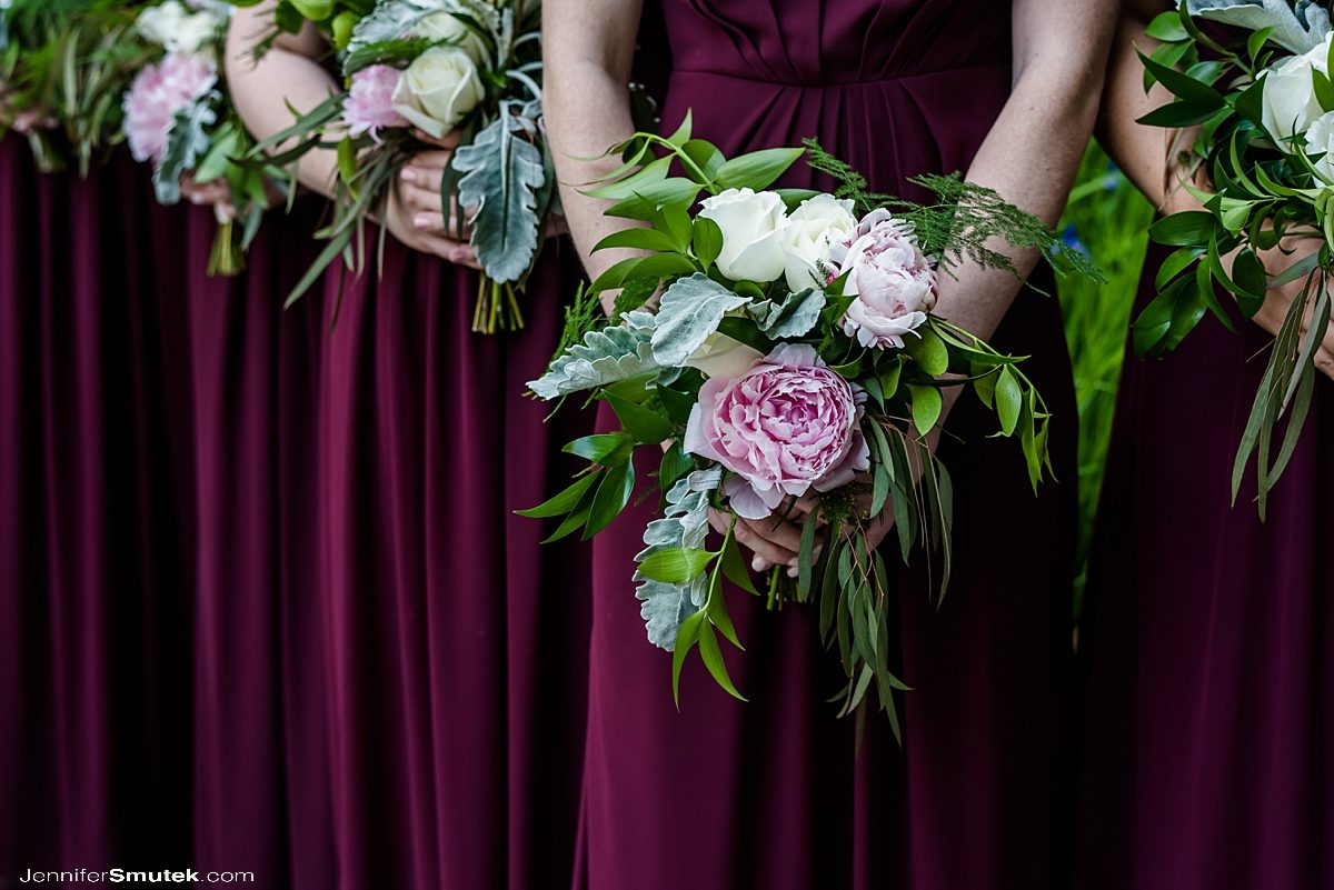 bridesmaid flowers by Homestead Weddings and Events