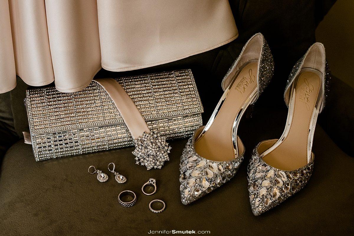 champagne bridal details