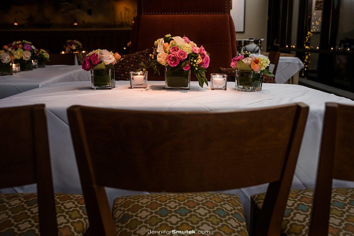 gertrude's restaurant wedding flowers by belles fleurs