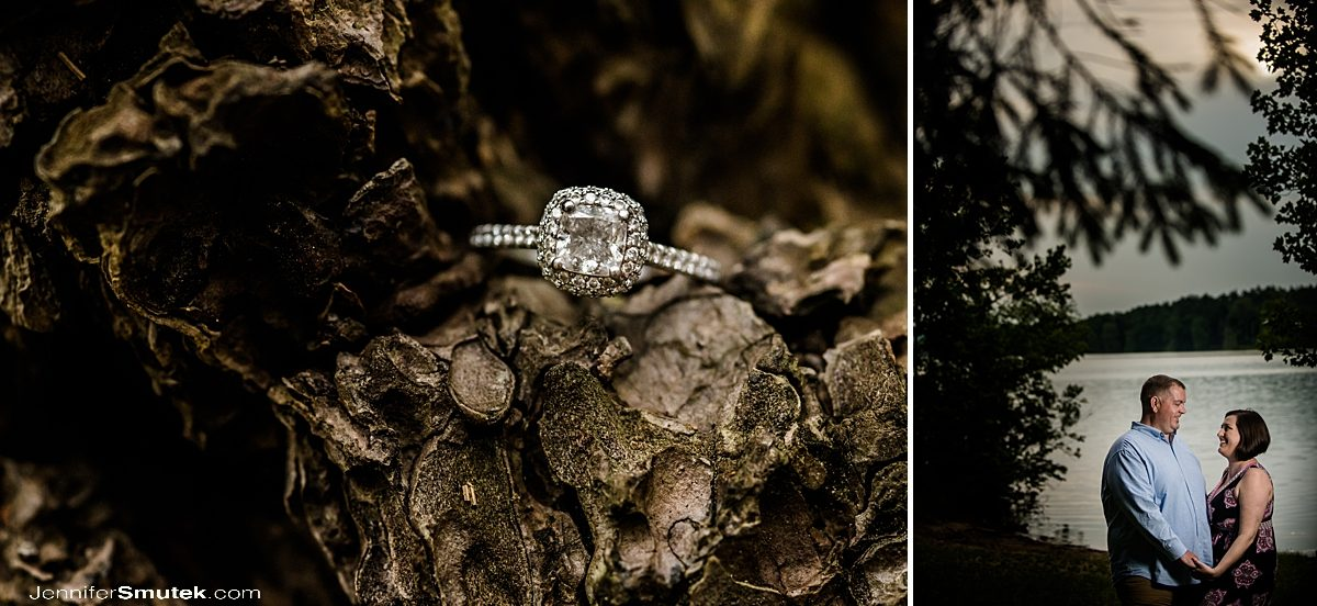 engagement ring Loch Raven Reservoir Engagement Session