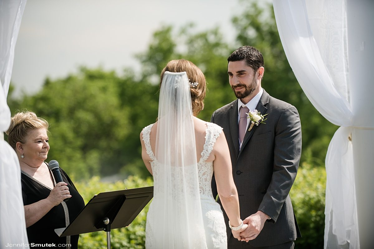 wedding ceremony at Musket Ridge Golf Club Wedding
