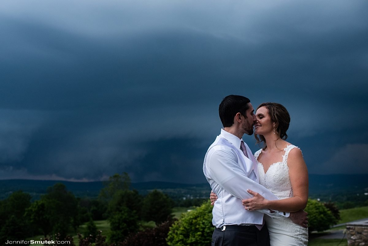 storm at Musket Ridge Golf Club Wedding