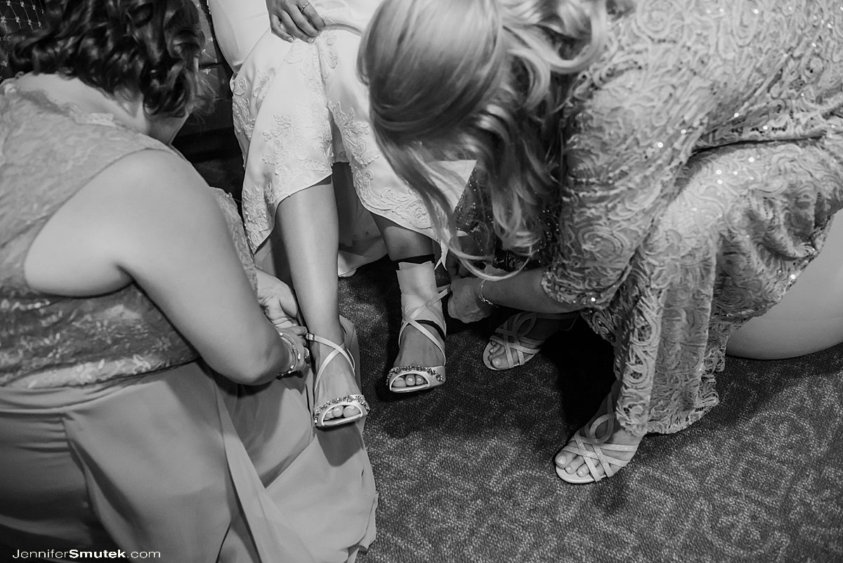 sprained ankle on your wedding day