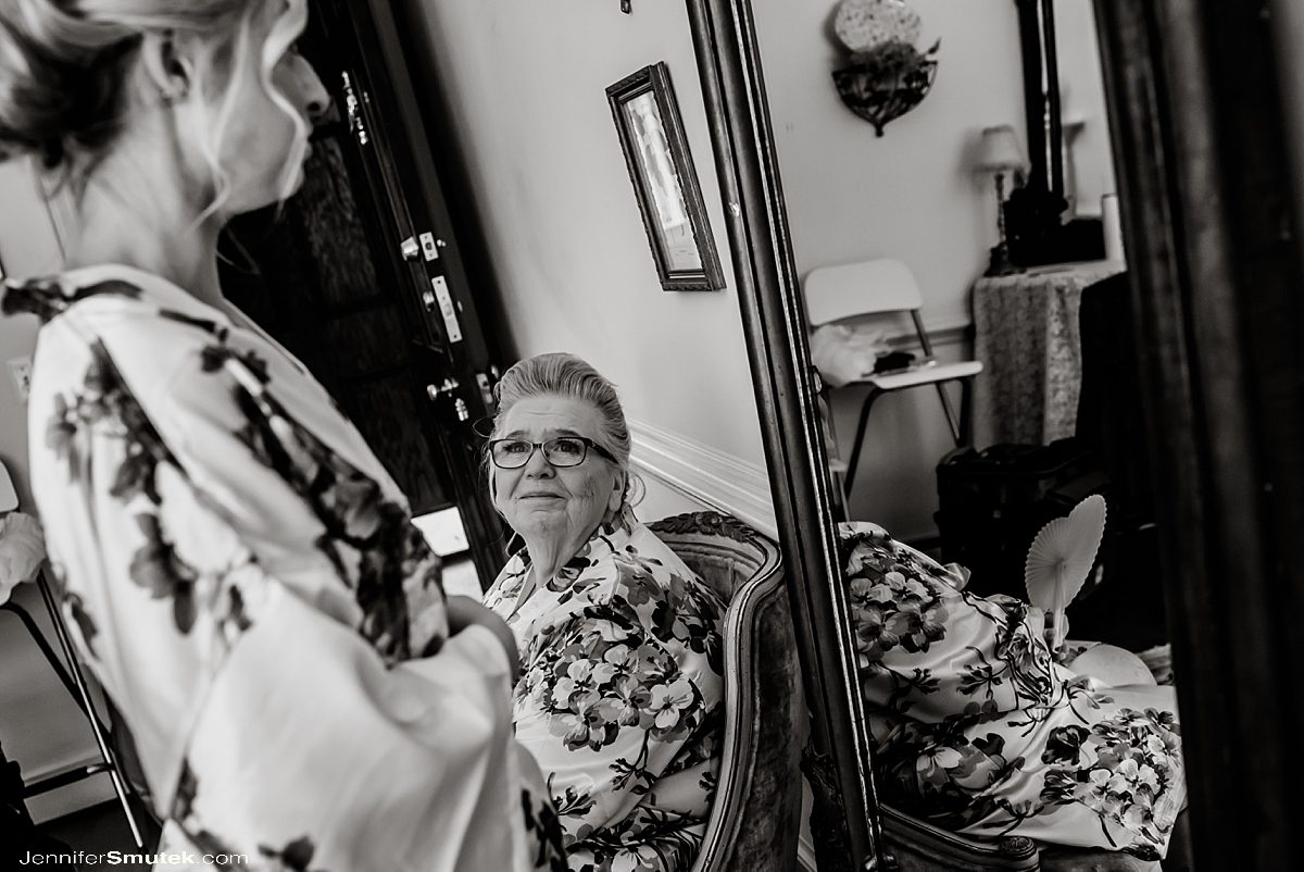 grandma smiling at bride