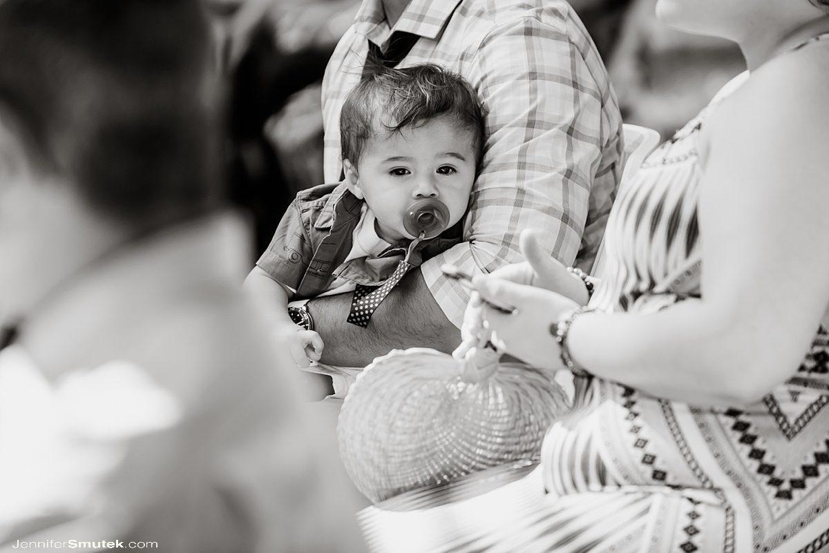 baby during baltimore wedding ceremony
