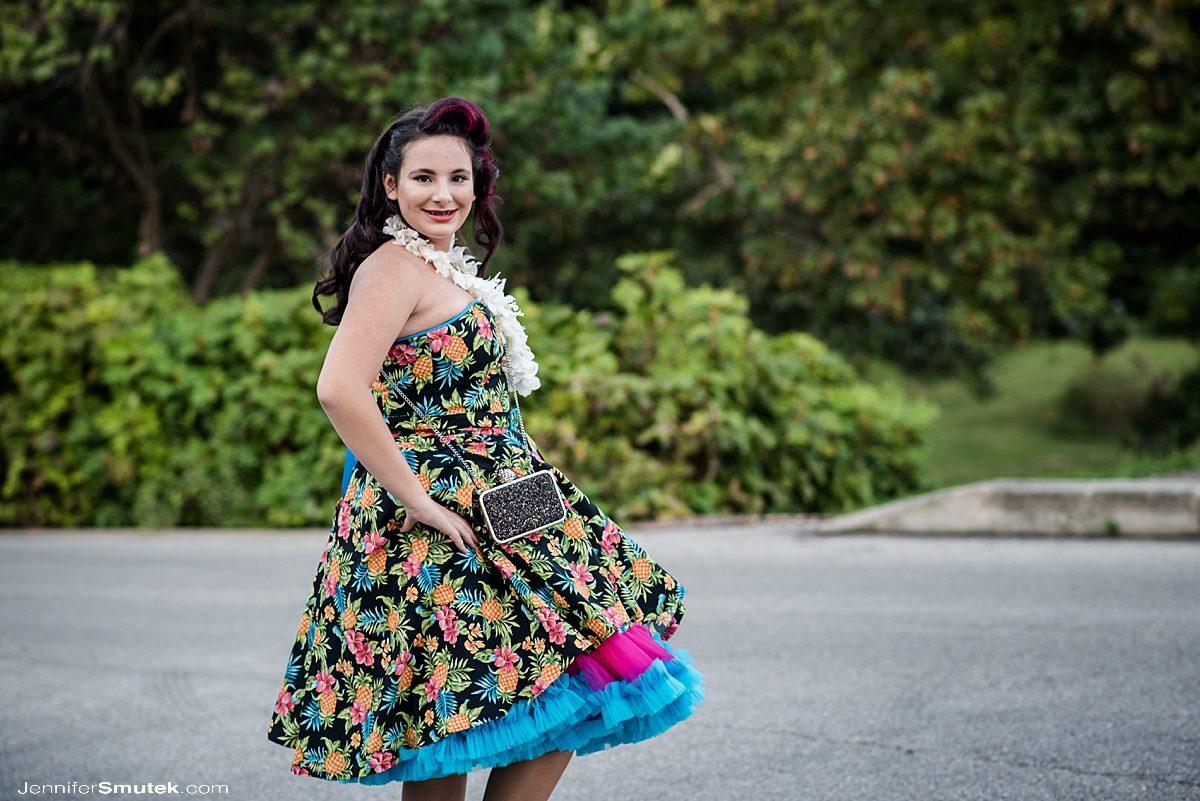 luau bat mitzvah dress