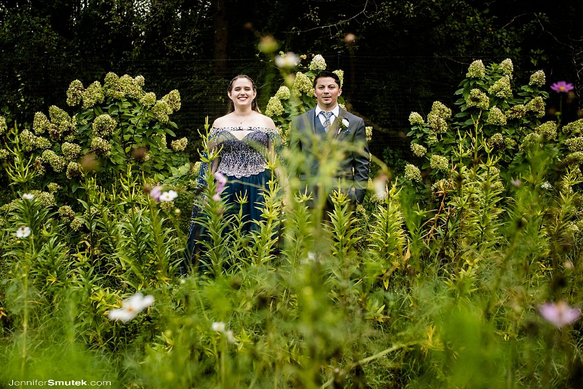 wedding couple in garden baltimore wedding photographer