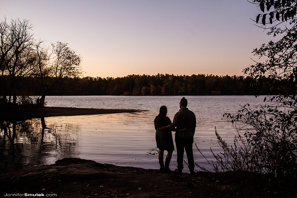 fall loch raven engagement session