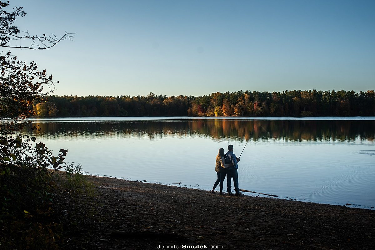 fishing Loch Raven engagement session