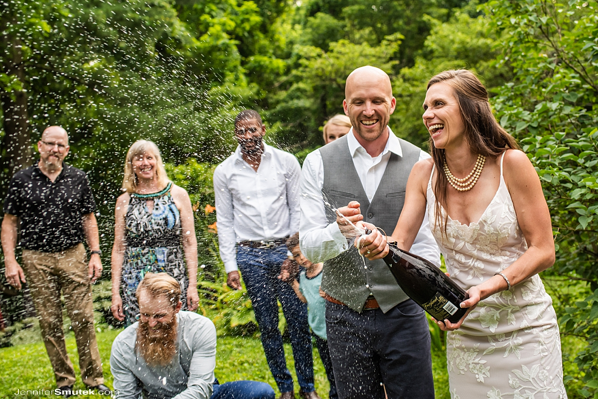 champagne toast micro wedding maryland