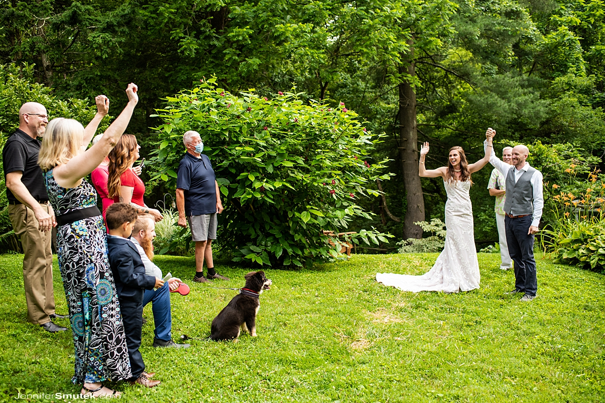 socially distant wedding cheer in maryland