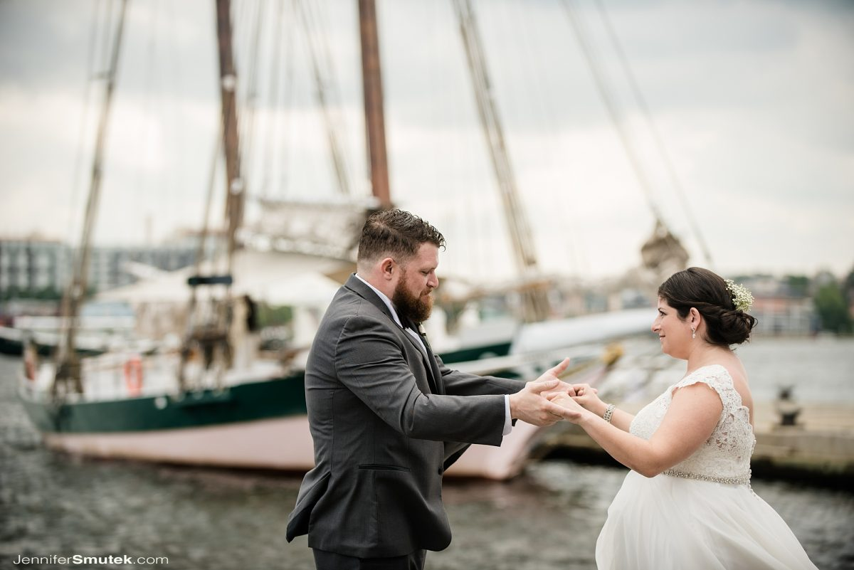first look micro wedding baltimore