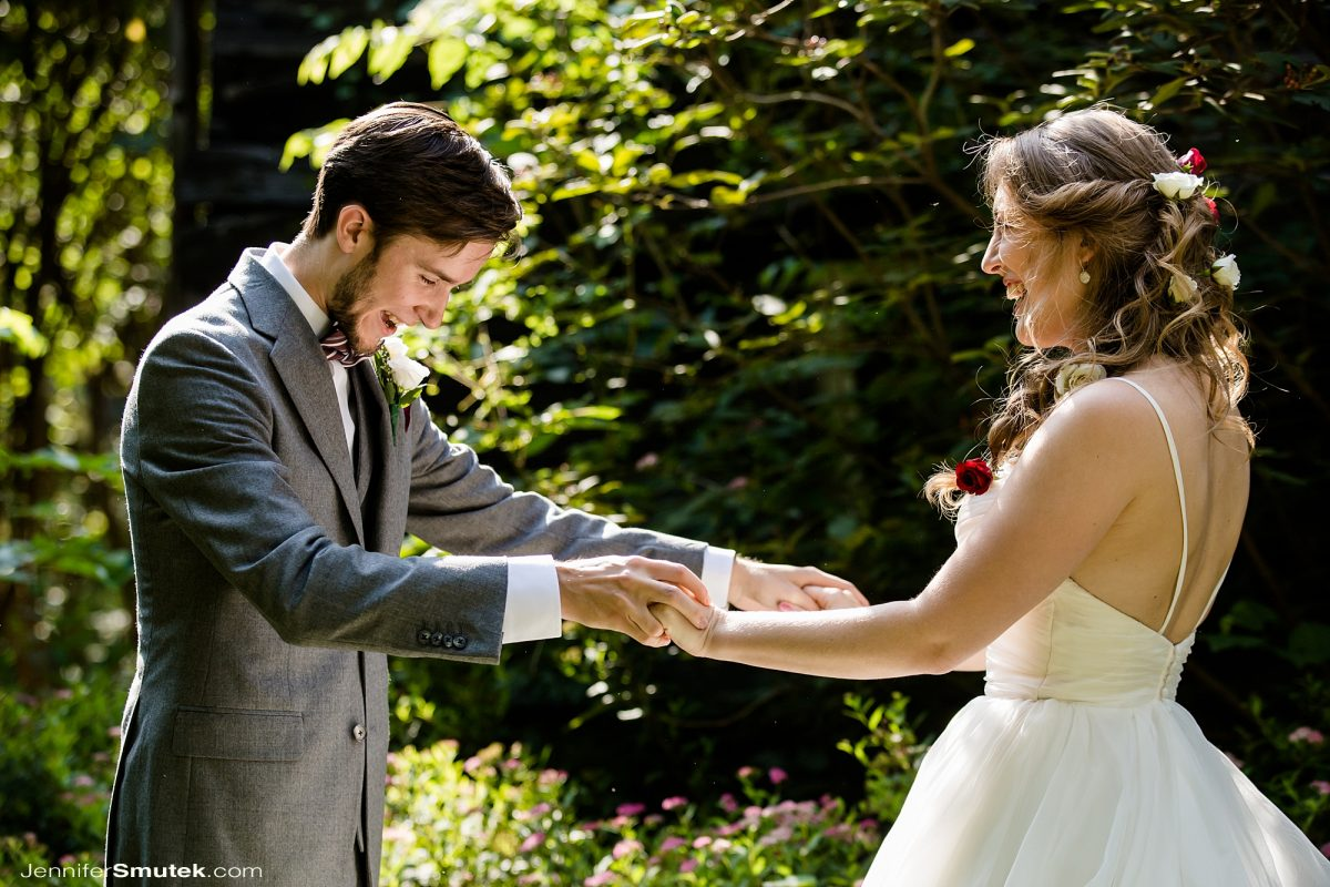 first look at intimate wedding Eldridge furnace inn