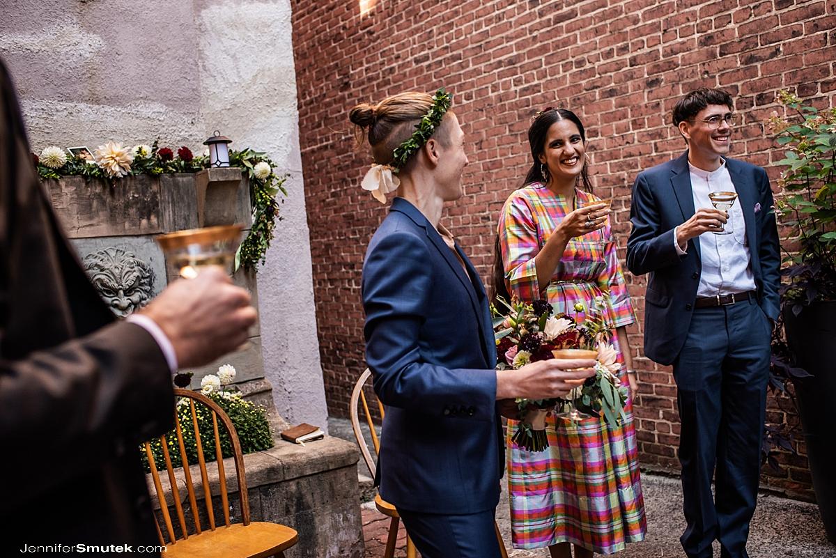 toasts baltimore micro wedding