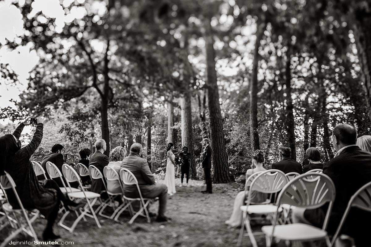 tilt shift wedding photography in black and white