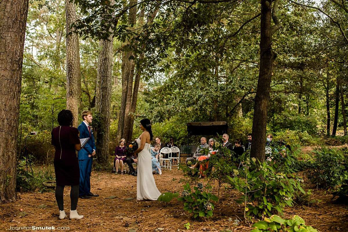 woodland Backyard Micro Wedding
