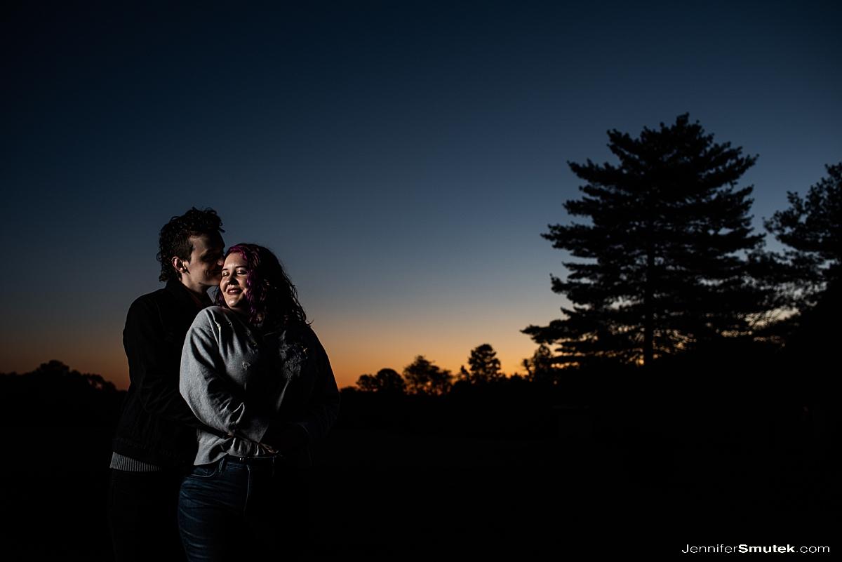 sunrise montpelier mansion engagement session