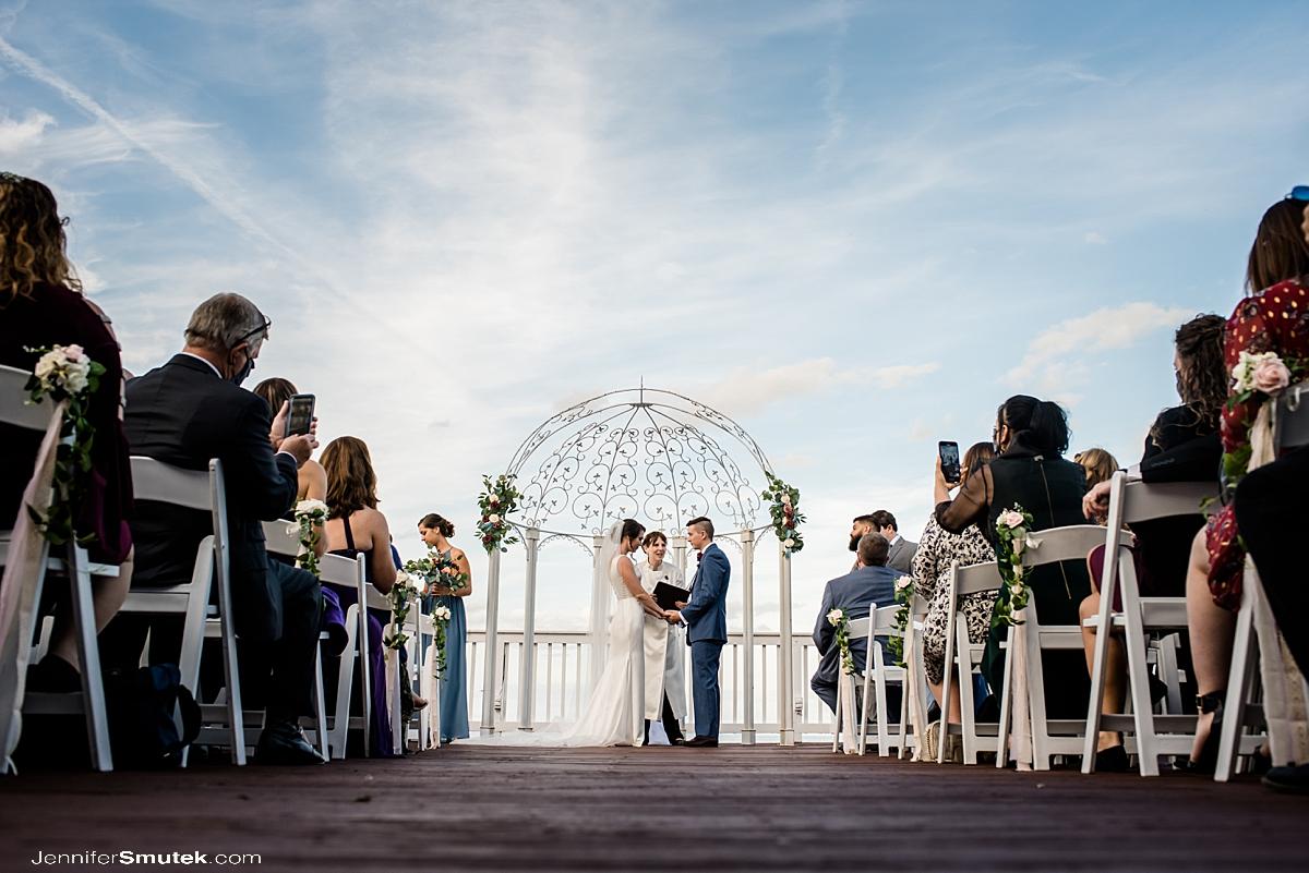 wedding ceremony celebrations at the bay