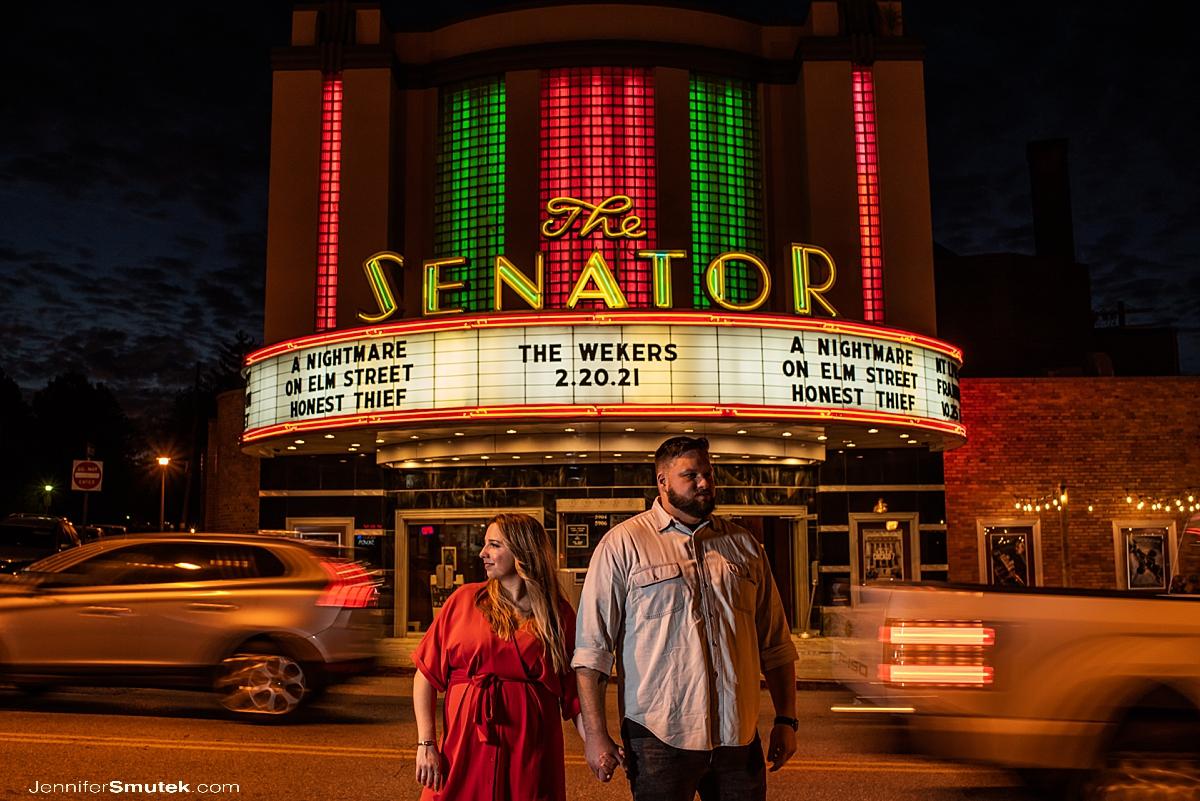 senator theatre engagement session