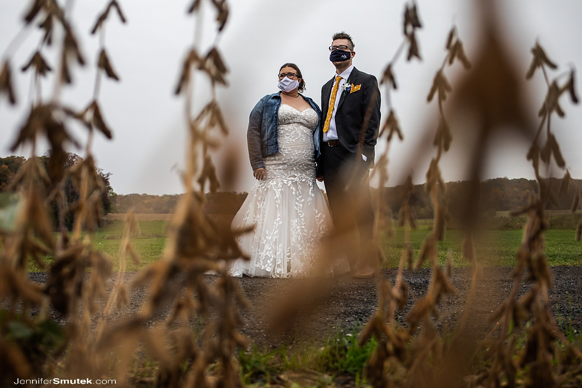soy beans wedding portraits