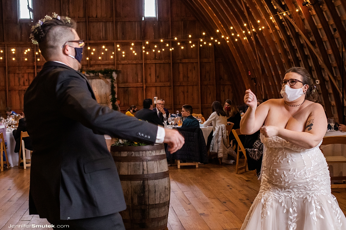 first dance barn at grimmel farms wedding